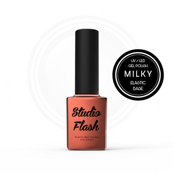 Elastic Hardener - Milky - Géllak megerősítő alap 12 ml StudioFlash