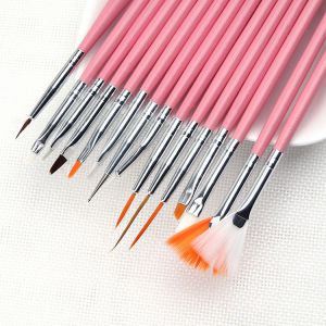 Ecset szett - díszítő világos rózsaszín - 12 darabos