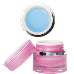 Prémium Ice Blue - építő zselé kék áttetsző sűrű 15g - Moyra