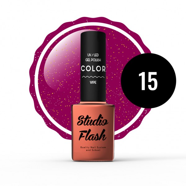 UV/LED Géllakk Color 15 - Glitter - 12 ml studioflash
