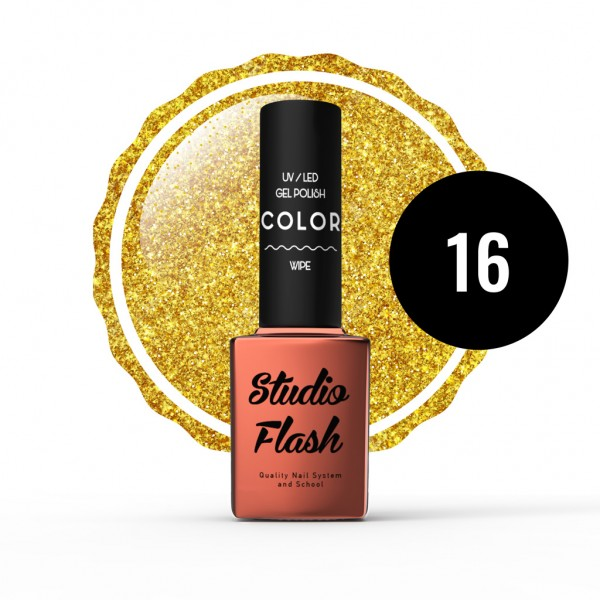 UV/LED Géllakk Color 16 - Glitter - 12 ml studioflash