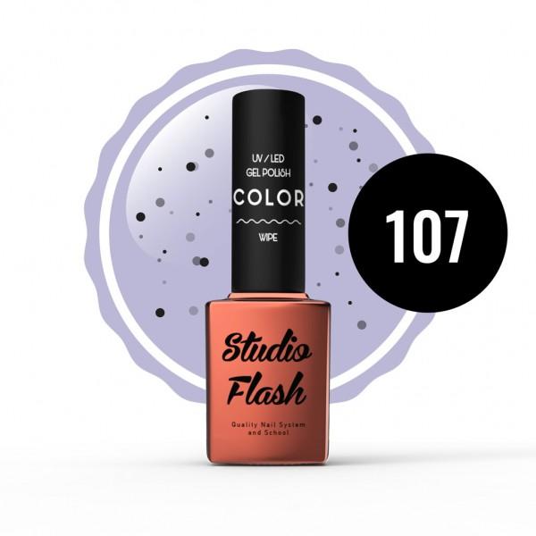 UV/LED Géllakk Color 107 - Tojáshéj hatás - 12 ml studioflash
