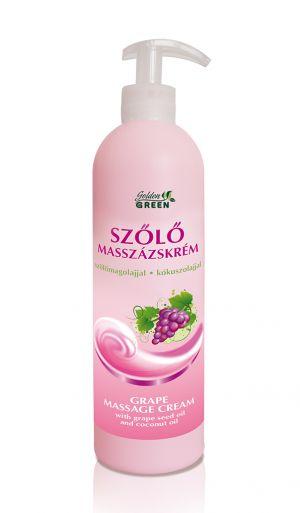 Szőlő Masszázskrém szőlőmagolajjal és kókuszolajjal 500ml