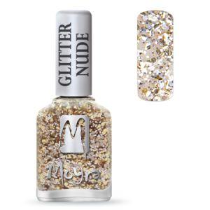 Körömlakk - Glitter Nude 392 Champagne 12ml - Moyra
