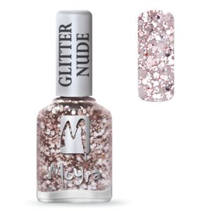 Körömlakk - Glitter Nude 394 Rose 12ml - Moyra