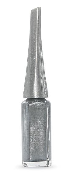 Dekor körömlakk - vékony hosszú ecset - ezüst