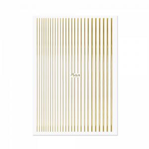 Körömdíszítő csíkok - Gold