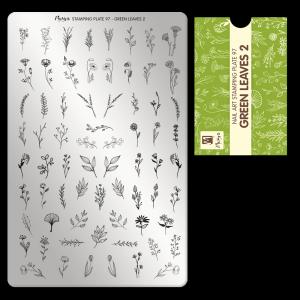 Nyomdalemez #97 Green leaves 2 - Moyra