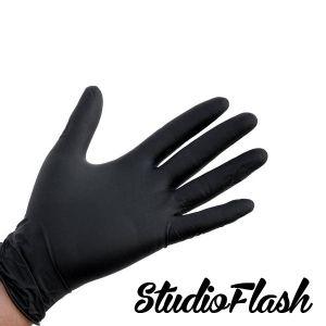 Gumikesztyű - L méret - fekete púdermentes 1db