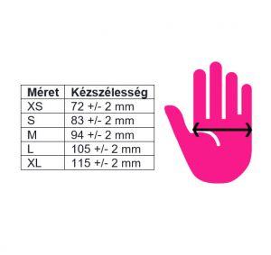 Gumikesztyű - M méret - Light Pink - púder mentes - 1db