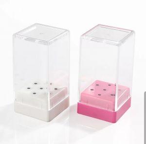 Frézer tartó - kocka (7 lyuk) - pink