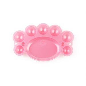 Festék keverő tálka - műanyag rózsaszín