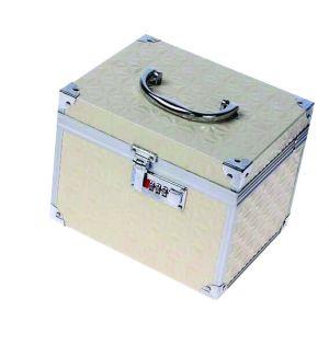 Beauty táska - domború fehér - műkörmös, pillás, kozmetikai bőrönd