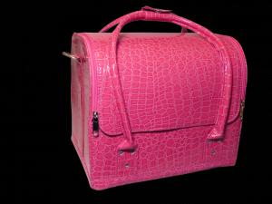 Beauty táska - ciklámen, kígyómintás