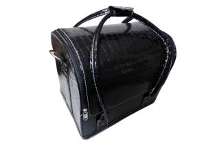 Beauty táska - fekete, kígyómintás