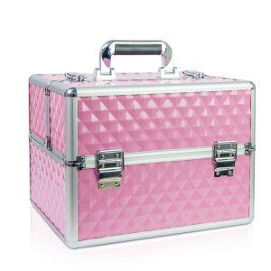 Műkörmös táska - rózsaszín 3D mintás