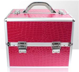 Műkörmös táska - krokodilbőr - pink