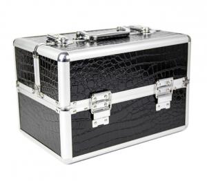Műkörmös táska - krokodilbőr fekete - kicsi