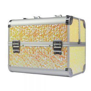Műkörmös táska - light gold mozaik