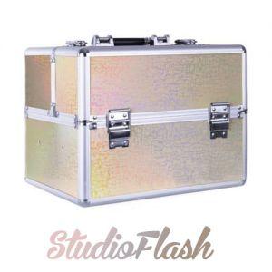 Műkörmös táska - Gold Holo Laser