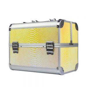 Műkörmös táska - Light gold kígyóbőr
