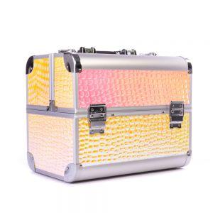 Műkörmös táska - Light gold krokodil