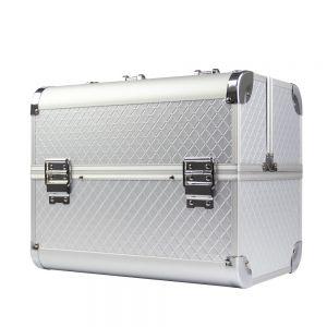 Műkörmös táska - ezüst rombusz