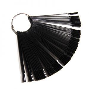 Pálcás bemutató tip - fém gyűrűvel - 50 db - fekete